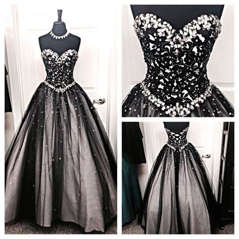 White Gown Tulle black white tulle evening prom gowns sweetheart