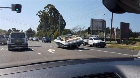 speed boats for sale sydney boat in hills district of sydney falls off trailer and