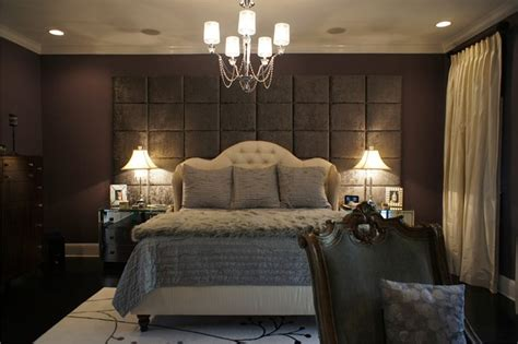 Bedroom Wall Panels by Wall Of Upholstered Panels Traditional Bedroom