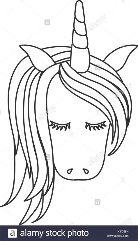 unicorn mask pattern unicorn head cut out stock images pictures alamy