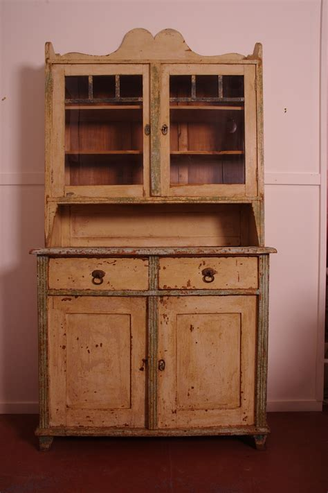 early painted pine country kitchen dresser c 1890 hobart - Country Kitchen Dressers