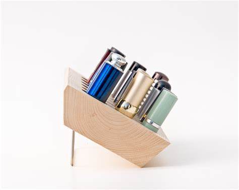 lipstick holder lipstick organizer wood makeup