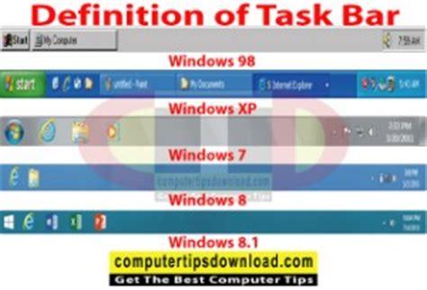 Bar Definition Definition Of Task Bar