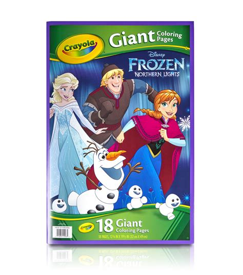 crayola giant coloring pages frozen crayola giant disney coloring book 12 75 quot x19 7 16 quot 18pg