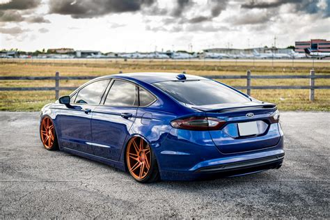 2014 ford fusion custom 2014 ford fusion fitted with 20 inch bd1 s in trans copper