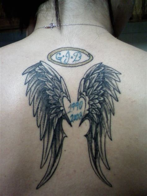 angel wings memorial tattoo 49 wonderful memorial tattoos ideas