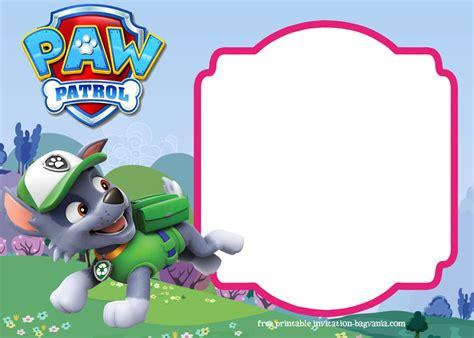 paw patrol birthday invitation templates  complete