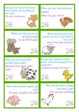 printable animal jokes printable lunch box notes