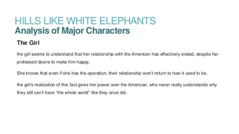 Like White Elephants Analysis Essay by Like White Elephants By Ernest Hemingway