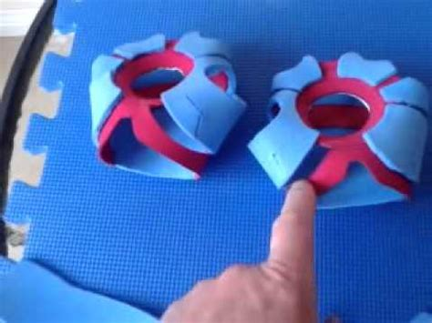 How To Make Iron Gloves Out Of Paper - incblotcreations iron foam palms