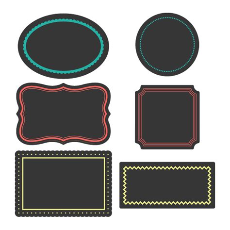 Label Sticker The pics for gt chalkboard label clipart