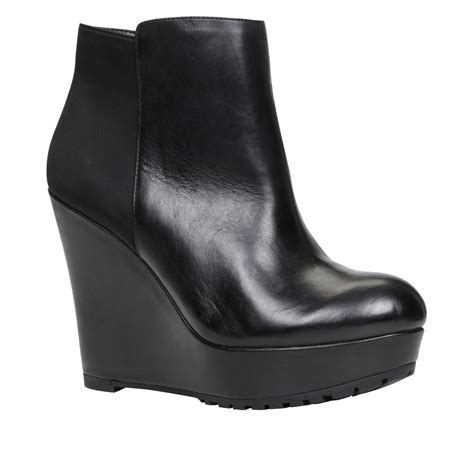 aldo guinevieve wedge ankle boots in black lyst
