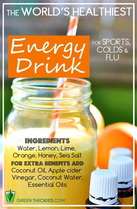energy drink replacement the world s healthiest energy drink recipe for sport and