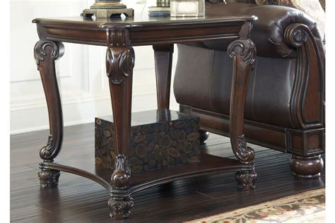 norcastle square end table in brown by