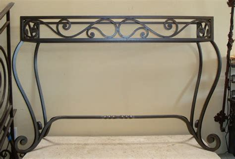 wrought iron console table potter metal studios wrought iron console table