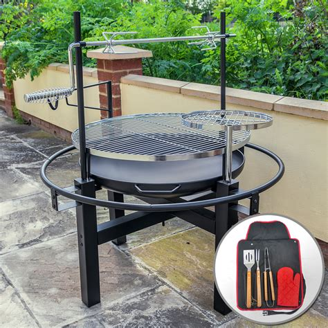 backyard bbq grill company outdoor round bbq grill with rotisserie and tool set