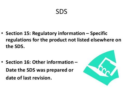sds section 11 sds