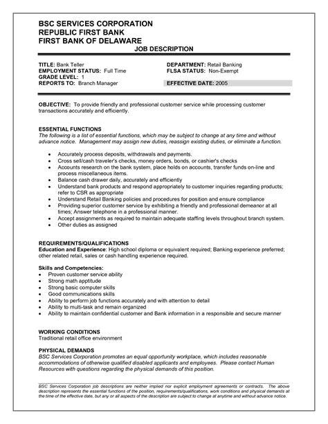 10 Bank Teller Resume Objectives   Writing Resume Sample