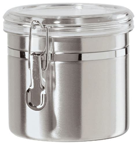 oggi kitchen canisters airtight canister stainless steel 42 oz by oggi