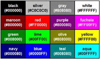black color names html renk kodları beles org