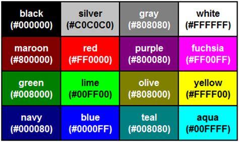 html renk kodları beles org