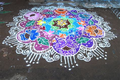 leaf pattern rangoli flower rangoli designs collection 9
