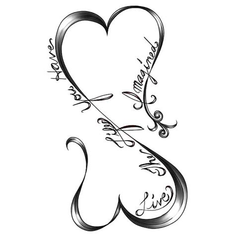 infinity heart live the life you have tattoo design