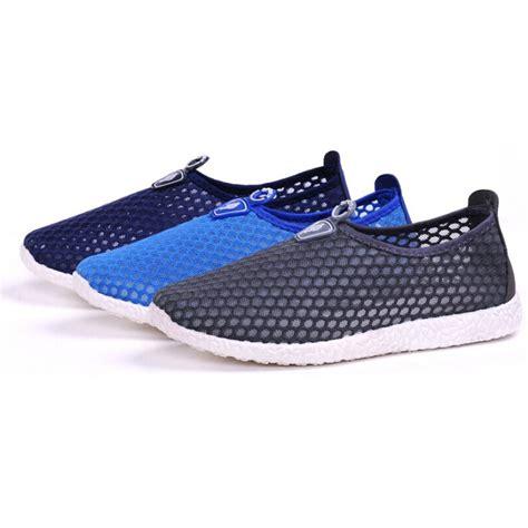 Murah Mainan Anjing Gigit Sepatu Shoes sepatu slip on mesh kasual pria size 43 blue jakartanotebook