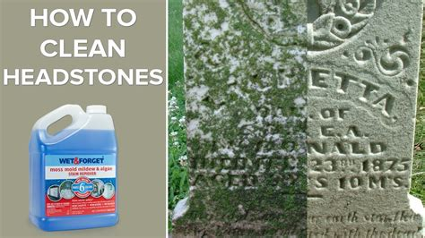 how to clean in and forget outdoor headstone cleaner