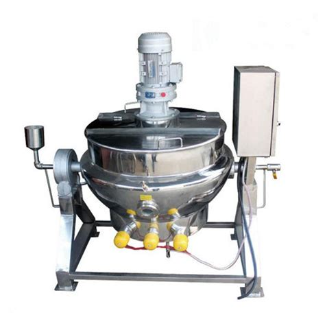 Used Cooking L by China Stainless Steel Jacketed Mixing Kettle With Agitator