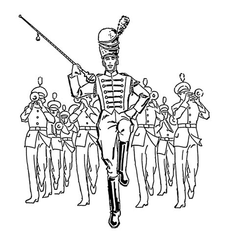 coloring book band file drum major psf png wikimedia commons
