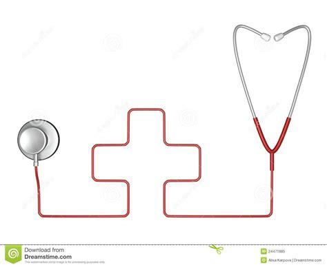 imagenes libres medicina s 237 mbolo del estetoscopio y de la cruz roja de la medicina