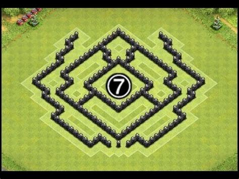 coc layout heart quot the lion quot clash of clans th7 farming base coc town hall
