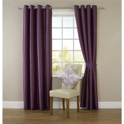 plum curtains wilko faux silk eyelet curtains plum 117cm x 137cm deal