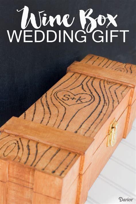 DIY Wedding Gift Idea: Personalized Wine Box   Darice