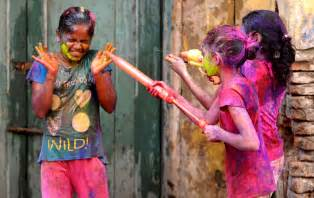 indian color festival celebrating holi festival of colors in india
