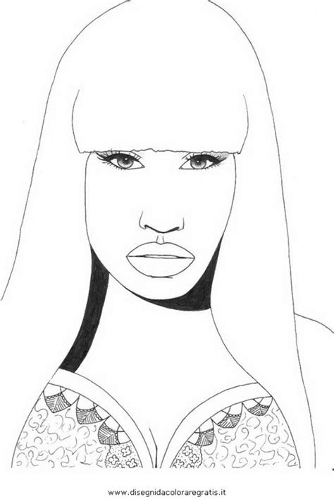 Nicki Minaj Coloring Pages Online Nicki Minaj Free Printable Coloring Page For