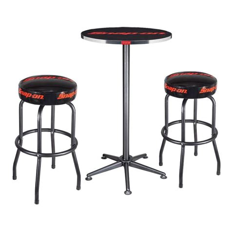 Snap On Swivel Stool by Snap On Tools 1 Bar Table And 2 Swivel Shop Stools Set