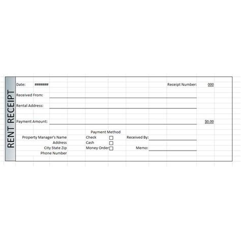 property management template rent receipts  word  excel