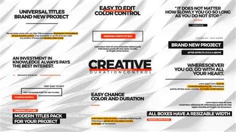 universal design effect universal titles corporate after effects templates f5