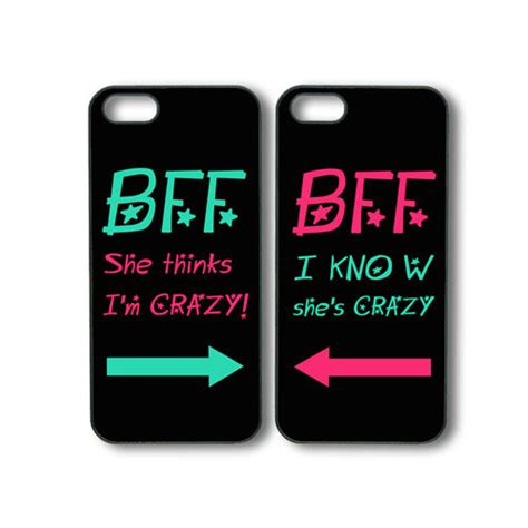 best friend phone cases best friends forever 2pcs iphone 4 iphone 4s in black or white plastic by default