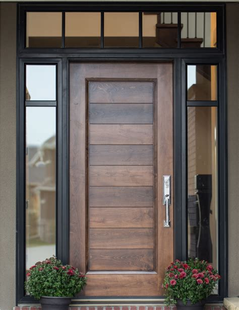 Exle Of Custom Wood Door With Glass Surround Interior Glazing Front Doors