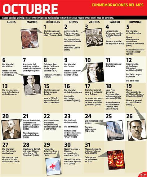 imagenes de octubre en mexico fechas de lo que se celebra y conmemora en octubre