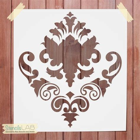 damask stencil wall stencil decorative wall stencil