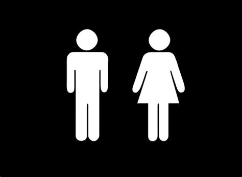man and woman bathroom symbol android s green robot logo was inspired by bathroom signs