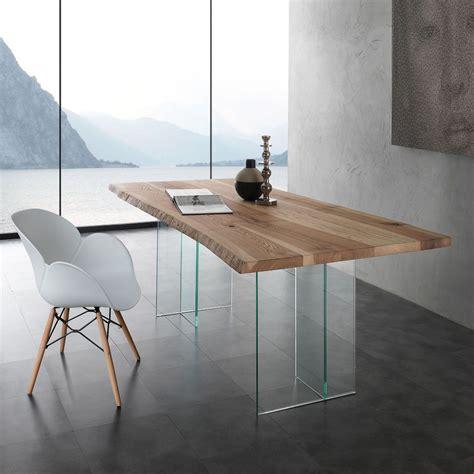 tavolo da pranzo in cristallo aber tavolo da pranzo in cristallo e legno massello da 200