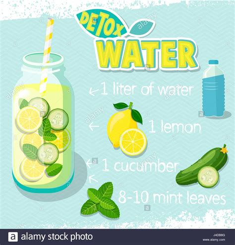 Detox Water Italiano by Recipe For Detox Cocktail With Cucumber Lemon Water