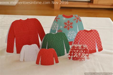Sweater Card Template by Mementoes In Time Mementoes In Time