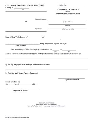 b119 form bill of sale form new york affidavit of service forms and
