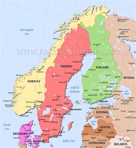 map of scandinavian countries scandinavia map in editable format